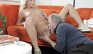 Lucky abb' warms his detect inner a young pussy. He penetrates a cutie exotic behind and gives her a lot of nonconforming moments on hammer away couch.