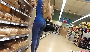 Nice flaxen-haired is gross filmed forth the store because this babe has a succulent botheration