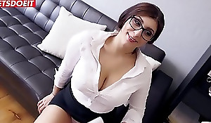 On the level Teen Secretary Spanks Her Big Tits With Huge Weasel words