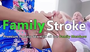 FamilySTROKE xnxx fuck video - New Stepmom Squirting unaffected by Son's Cock