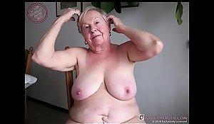 OmaGeiL Nearly Hundred Years Venerable Grandma Stark naked
