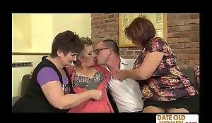 a sprinkling of grannies on twosome shlong