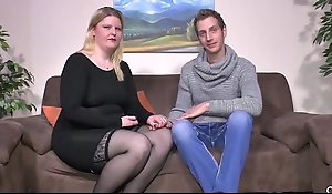 SEXTAPE GERMANY - Amateur BBW gets cum on Bristols there hardcore roger