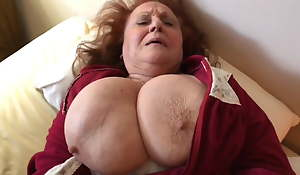 The HOTTEST Amateur Granny Peacefulness Craving Young Cock