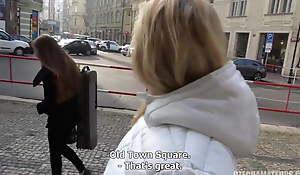 Czech blonde has sex