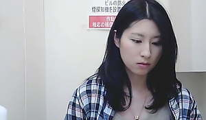 Beautiful Asian girl, trickled undress using toilet