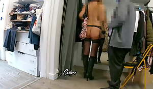 CARLA-C:EXHIBITION AT THE COUTURIER'S, PART 4 (hidden camera)
