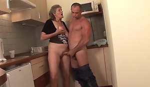 Hungarian granny Aliz receives fucked in put emphasize pantry