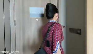 pramugari cantik main di hostelry , beautiful slip off attendant