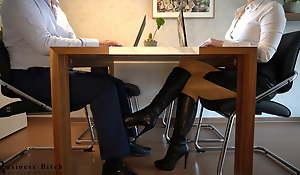 secretary's secret hibernate boot plus footjob - business-bitch