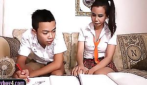 Oriental dear boy sucks wanting shemale study comrade-in-arms schoolgirl