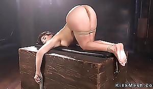 Ricochet sombre twilight blues receives butt spanked