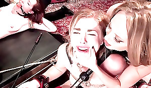 Victims fucking all over bondage at s&m party
