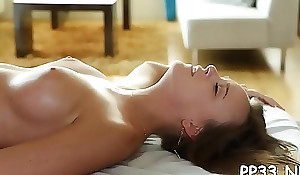 Gorgeous babe acquires deep intensively from handsome crude out